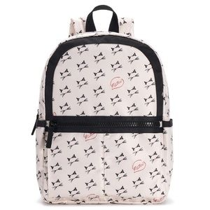 Cat Meow Black White and Pink Backpack